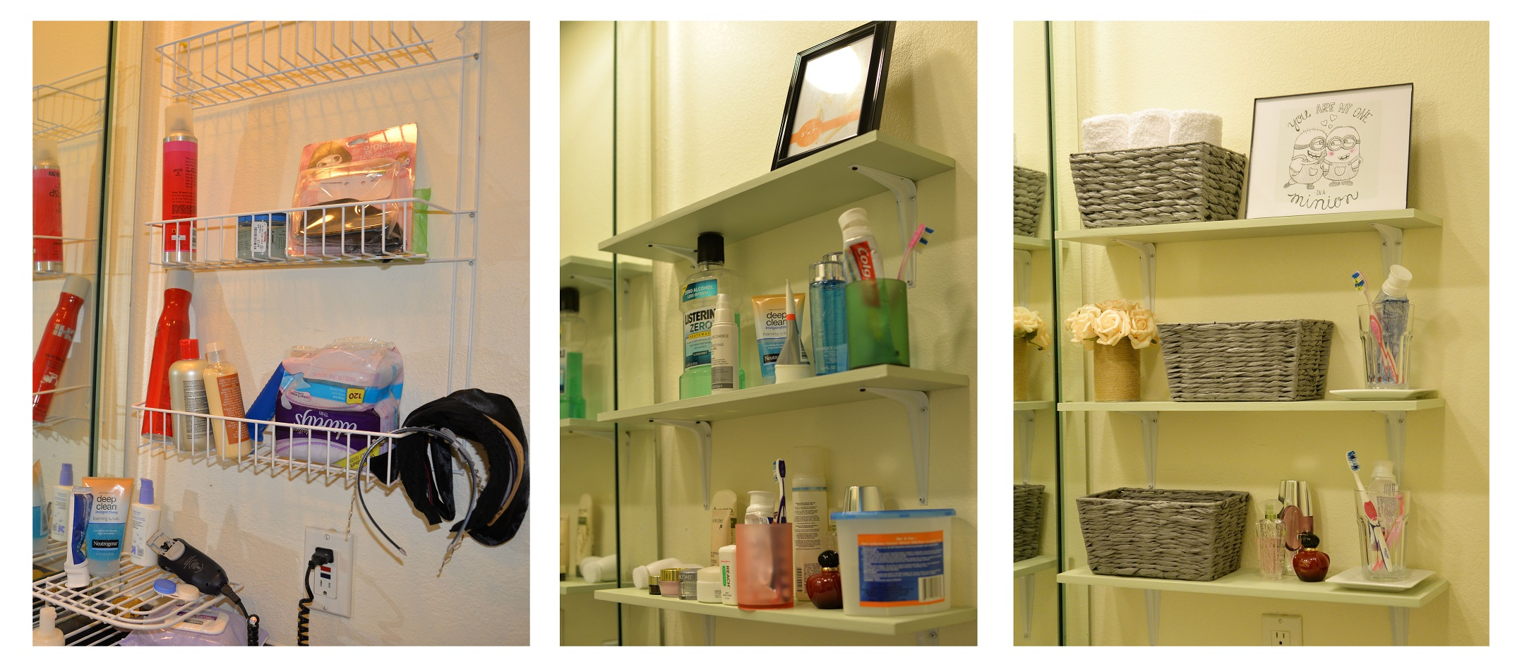 Tidy up my bathroom vanity with DIY shelves | justannelife